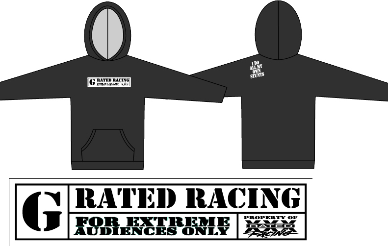 front and back of a black hoodie for kids