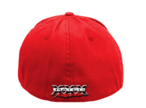 back view of a red cap